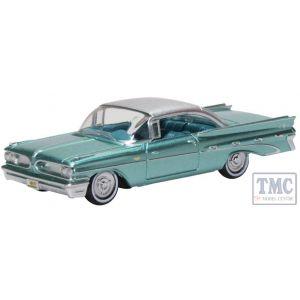 87PB59003 Oxford Diecast 1:87 Scale Pontiac Bonneville Coupe 1959 Seaspray Green