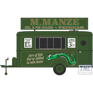 87TR018 Oxford Diecast  Mobile Trailer M Manze Jellied Eels