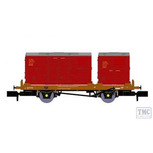 921007 Rapido Trains N Gauge BR 'Conflat P' No. B933238 (with crimson containers)
