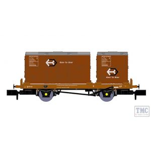 921015 Rapido Trains N Gauge BR 'Conflat P' No. B933861 (with bauxite containers)
