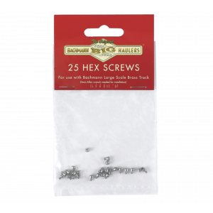 94656 Bachmann G Scale Stainless Steel Hex Screws 25/Bag