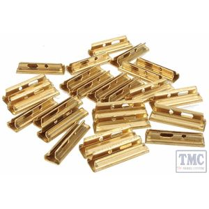 94657 Bachmann G Scale Brass Rail Joiners for European Style Track