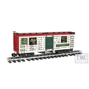 98704 Bachmann Large Scale Animated Stock Car NP & S with Reindeer (Christmas)