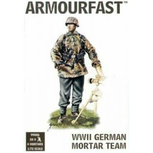Armourfast Set 99006 1/72 Scale WWII German Mortar Team (Pre owned)
