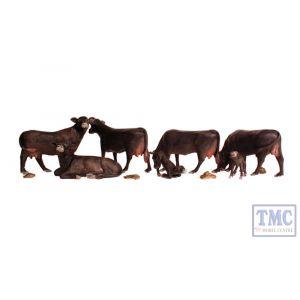 A1955 Woodland Scenics OO Gauge Black Angus Cows