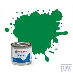 AA0028 Humbrol Enamel Paint Tinlet No 2 Emerald - Gloss - (14ml)