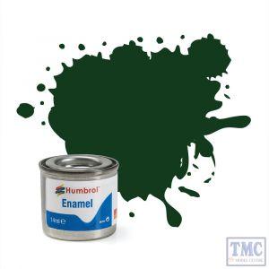 AA0031 Humbrol Enamel Paint Tinlet No 3 Brunswick Green - Gloss - (14ml)