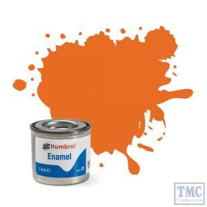 AA0196 Humbrol Enamel Paint Tinlet No 18 Orange - Gloss - (14ml)