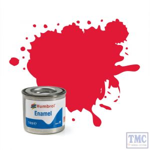 AA0238 Humbrol Enamel Paint Tinlet No 238 Arrow Red - Gloss (14ml)