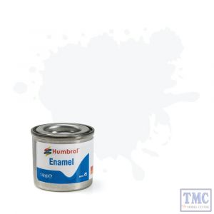 AA0240 Humbrol Enamel Paint Tinlet No 22 White Gloss Tinlet No 1 (14ml)