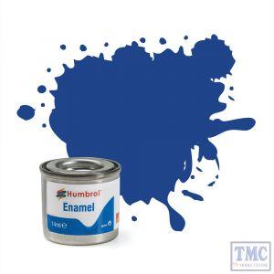 AA0271 Humbrol Enamel Paint Tinlet No 25 Blue - Matt - (14ml)