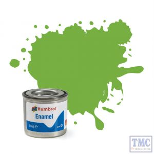AA0415 Humbrol Enamel Paint Tinlet No 38 Lime - Gloss - (14ml)