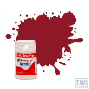 AB0020 Humbrol No 20 Crimson Gloss 14ml Acrylic Potlets