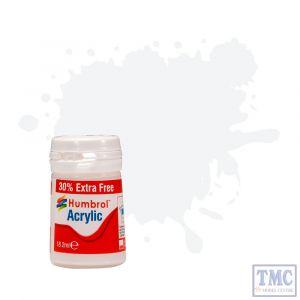 AB0022 Humbrol No 22 White - Gloss -12ml Acrylic
