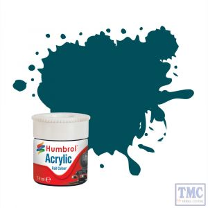 AB2411 Humbrol Diesel Blue RC411 Acrylic Rail Colour Paint