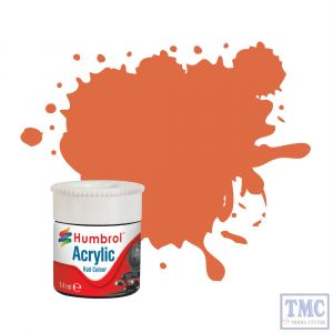 AB2420 Humbrol Orange Lining RC420 Acrylic Rail Colour Paint