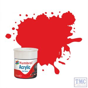 AB2421 Humbrol Virgin Red RC421 Acrylic Rail Colour Paint
