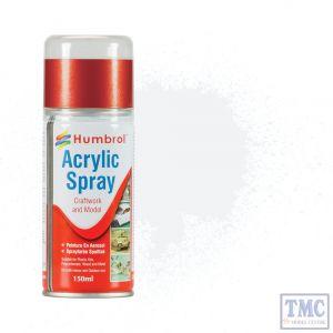 AD6022 Humbrol Paint No 22 White Gloss - Acrylic Modellers Spray 150 ML