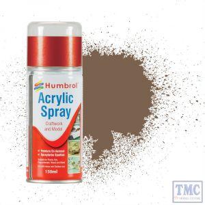 AD6029 Humbrol Paint No 29 Dark Brown - Acrylic Modellers Spray 150 ML
