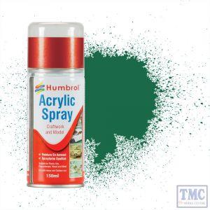 AD6030 Humbrol Paint No 30 Dark Green - Acrylic Modellers Spray 150 ML