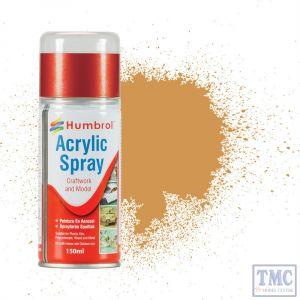 AD6063 Humbrol Paint No 63 Sand - Acrylic Modellers Spray 150 ML