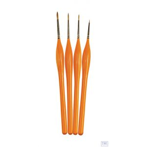 AG4250 Humbrol Palpo Brush Pack Sable Hair - Size: 000 0 2 4