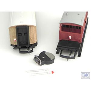 AL2 Traintech OO Gauge Flickering tail light - Vintage flame lantern effect (flickers more when train is going over bumpy track)