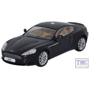 AMDB9002 Oxford Diecast 1:43 Scale Aston Martin DB9 Coupe Onyx Black Aston Martin DB9