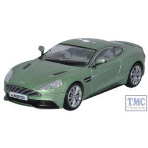 AMV001 Oxford Diecast 1:43 Scale Aston Martin Vanquish Coupe Appletree Green Aston Martin Vanquish