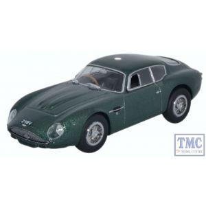 AMZ001 Oxford Diecast 1:43 Scale O Gauge Aston Martin DB4GT Zagato - 2 VEV Metallic Green