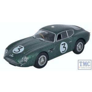 AMZ002 Oxford Diecast O Gauge Aston Martin DB4GT Zagato 2 VEV (Jim Clark Goodwood 1961)