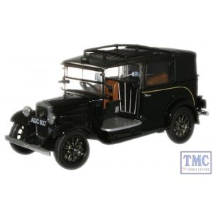 AT001 Oxford Diecast 1:43 Scale Black Austin Low Loader Taxi Austin Low Loader Taxi