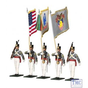 B10034 W.Britain West Point Military Academy Cadet Color Guard 5 Piece Set Museum Collection