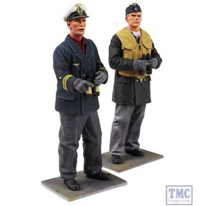 B13017 W.Britain On Watch German U-Boat Crewman & Captain 2 Piece Set Jack Tars & Leathernecks Collection