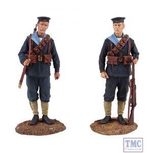 B13019 W.Britain Royal Navy Landing Party 1914-15 2 Piece Set Jack Tars & Leathernecks Collection