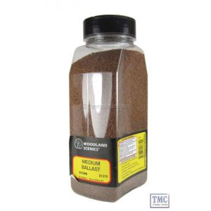 B1379 Woodland Scenics Brown Medium Ballast