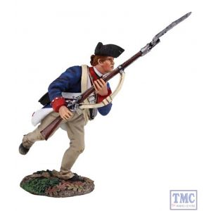 B16022 W.Britain Continental Army 1st American Regiment Charging 1 Clash of Empires Collection