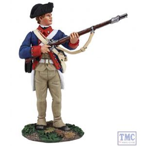 B16023 W.Britain Continental Army 1st American Regiment Standing At Ready Clash of Empires Collection
