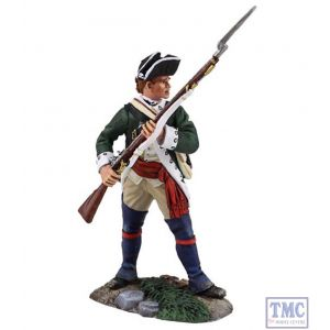 B16026 W.Britain Loyalist Butler's Ranger NCO Defending with Musket Clash of Empires Collection
