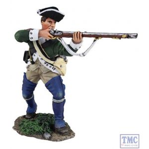 B16027 W.Britain Loyalist Butler's Ranger Advancing and Firing Clash of Empires Collection