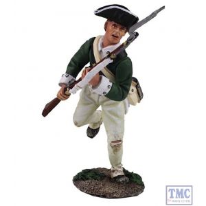 B16028 W.Britain Loyalist Butler's Ranger Charging with Bayonet Clash of Empires Collection