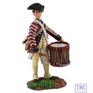 B16030 W.Britain Continental Army 1st American Regiment Drummer 1 Clash of Empires Collection