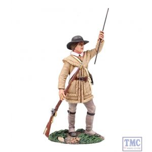 B16036 W.Britain Colonial Militia Standing Loading 1 Clash of Empires Collection
