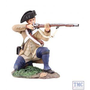 B16037 W.Britain Colonial Militia Kneeling Firing 1 Clash of Empires Collection