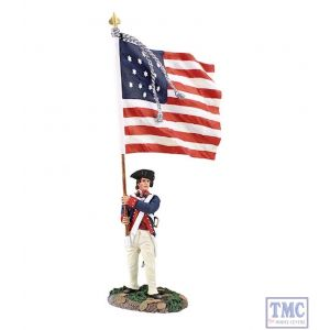 B16038 W.Britain Continential Line Ensign with Color 1782-1790 Clash of Empires Collection