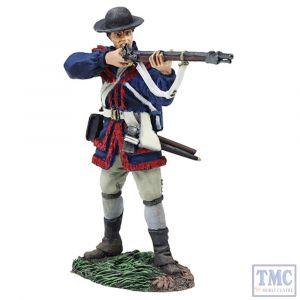 B16043 W.Britain Colonial Militia Standing Firing _2 Clash of Empires