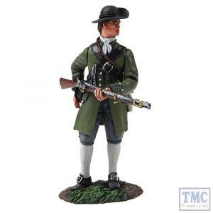 B16045 W.Britain Colonial Militia Standing Reaching for Cartridge Clash of Empires