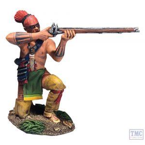 B16064 W.Britain Native Warrior Kneeling Firing No.2 Clash of Empires