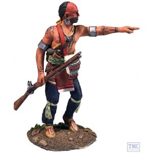 B16065 W.Britain Native Warrior Advancing Pointing Clash of Empires