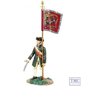 B18054 W.Britain Colonial Militia Flag-bearer 2 Bedford Colours American War of Independence Collection